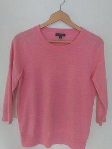 Talbots Pink Wool Half Sleeve Sweater Top
